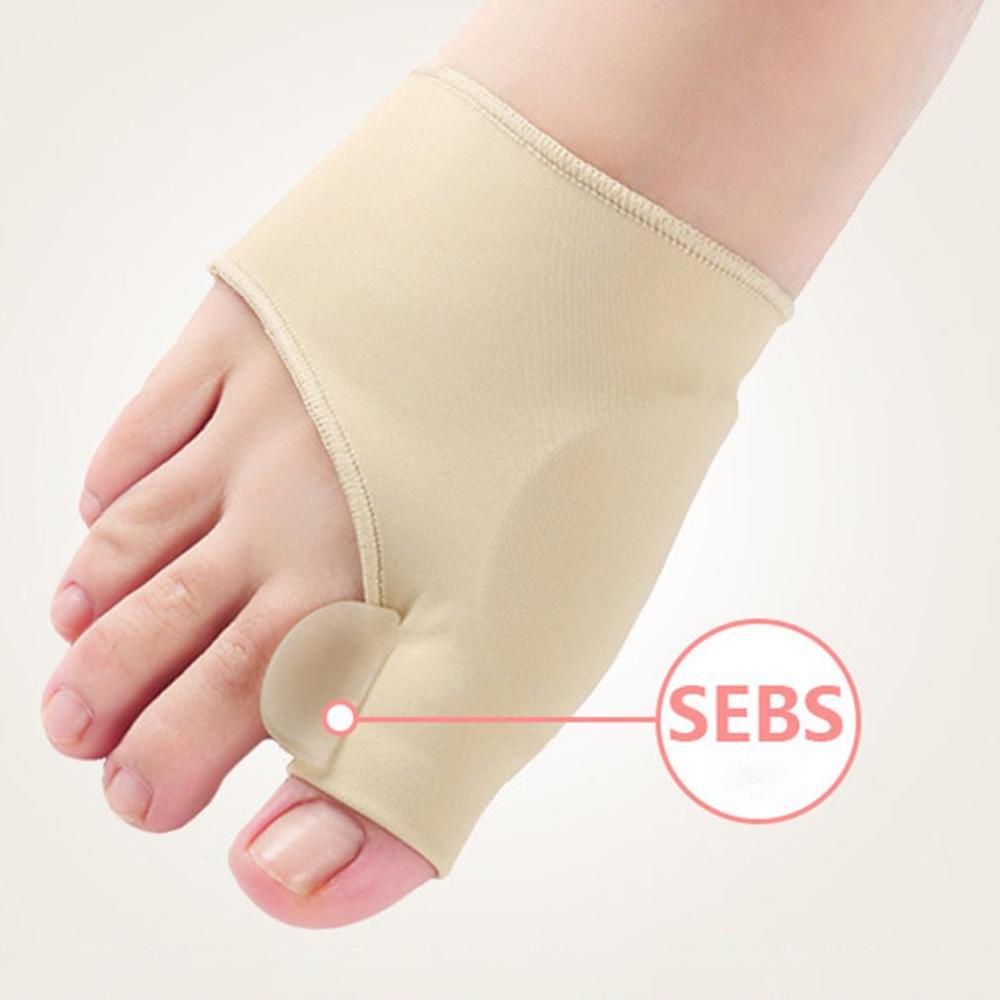 1Pair=2pcs Big Toe Hallux Valgus Corrector Orthotics Feet Care Bone Thumb Adjuster Correction Pedicure Socks Bunion Straightener