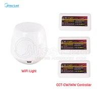 Toptan 3x WW/CW Kontrol 4-zones wifi controller + 2.4G mi işık wifi Led Şerit Işık Lambası Ampul Kablosuz RF Için aşağı ışık