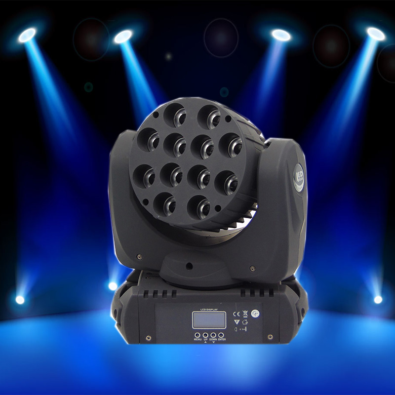 12*12W RGBW 4 IN1 beam LED Moving Head Light 16 DMX channels LED effect stage moving head wash lighting 19 12w high power led rgbw wash light 16 channels ac90 240v moving head light professional stage