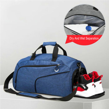 Swimming Pool Bag For Men Sports Gym Bags With Wet Pocket And Shoe Travel Duffel Bag For Women Bikini Swimsuit Storage Bag Tote sports gym bag waterproof travel duffel bag with wet pocket