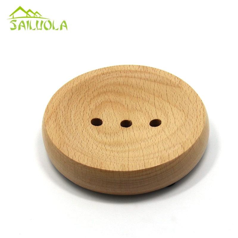 Japoniško stiliaus lengvas apvalus medinis muilo indų dėklas - Organizavimas ir saugojimas namuose - Nuotrauka 3