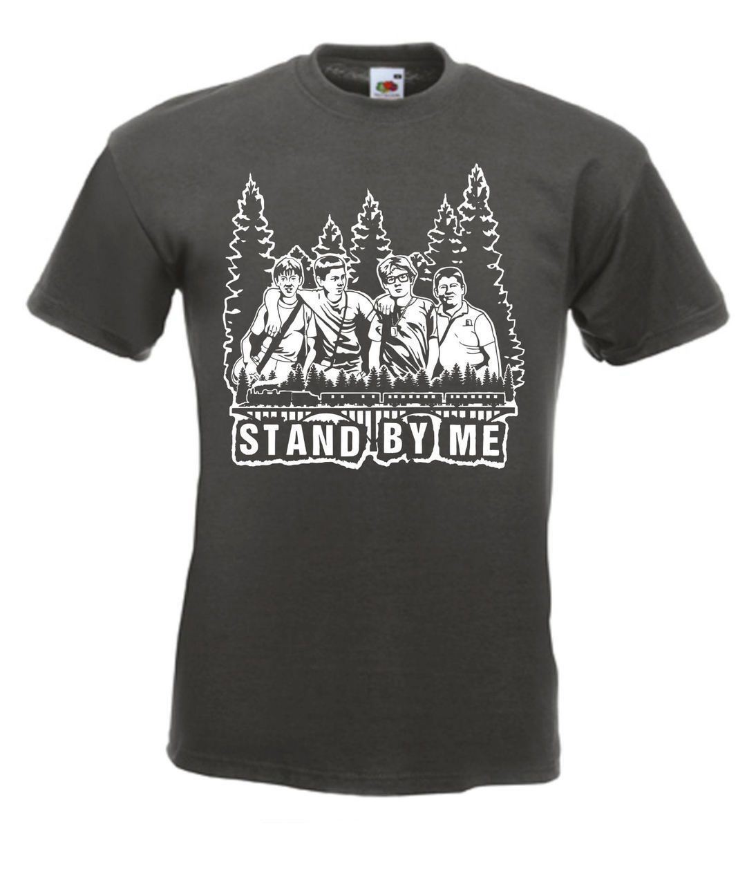 Stand By Me 80s Movie T Shirt Print T Shirt Fashion Short Sleeve Cheap Sale 100 % Cotton T Shirts For Boys