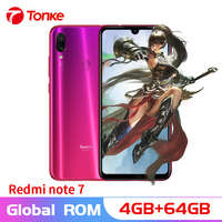 Global firmware Redmi Note 7 4GB RAM 64GB ROM Snapdragon 660 Octa Core 6.3 19.5:9 Full Screen 48MP Dual Camera Mobile Phone OTA