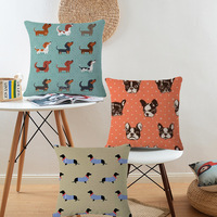 Dogs Printing Cushion Covers 45X45cm Throw Pillows Car Sofa Pillow Cover Home Decorative Pillowcase cojines