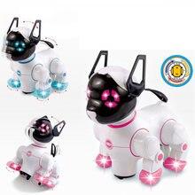 Электронные Домашние животные робот собаки с музыкальным освещением