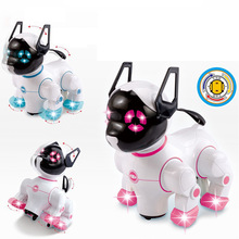 Electronic Pets Robot Dogs with Music Lighting Bark Stand Walk Universal Wheel Cute Interactive Dog Toys For Kids