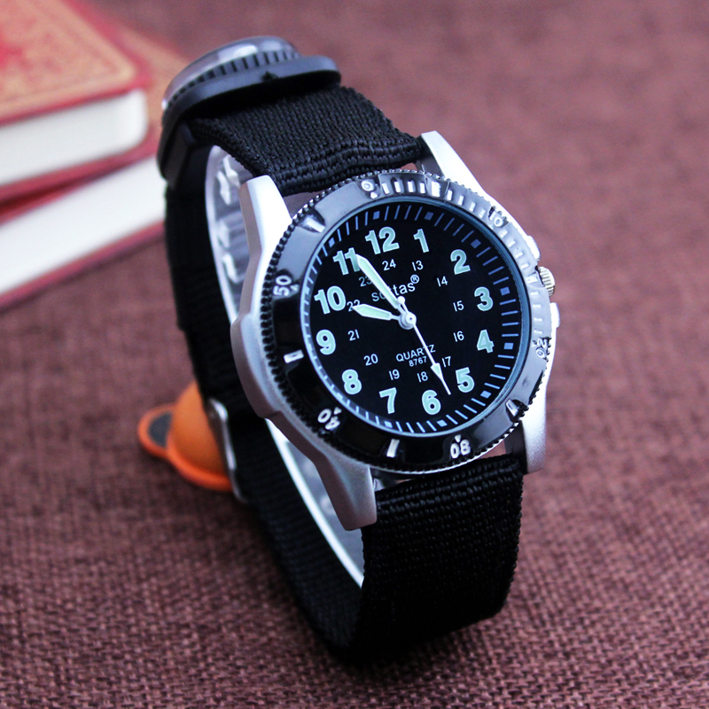 2018 new canvas children boys fashion watches casual quatrz adjustable bracelet compass gift watches cool handsome watches(China)