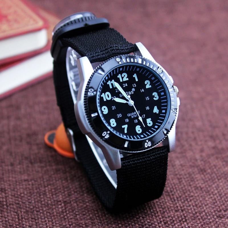 2018 New Canvas Children Boys Fashion Watches Casual Quatrz Adjustable Bracelet Compass Gift Watches Cool Handsome Watches