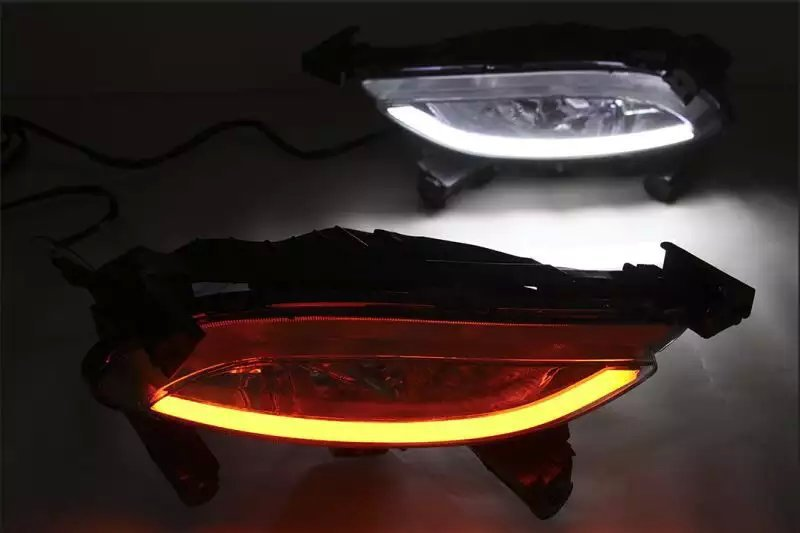 led drl daytime running light for Hyundai Sonata 8G 2011~12 guiding light design with yellow turn signals exact installation for ford fusion 2013 16 guiding light daytime running lights drl turn signals 2x