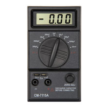 CM7115A Practical Capacitor Meter Digital Multimeter LCD Display Measuring Tool with Dual-Slope integration A/D converter system nf 188 gps land meter for area length trajectory measuring flat slope