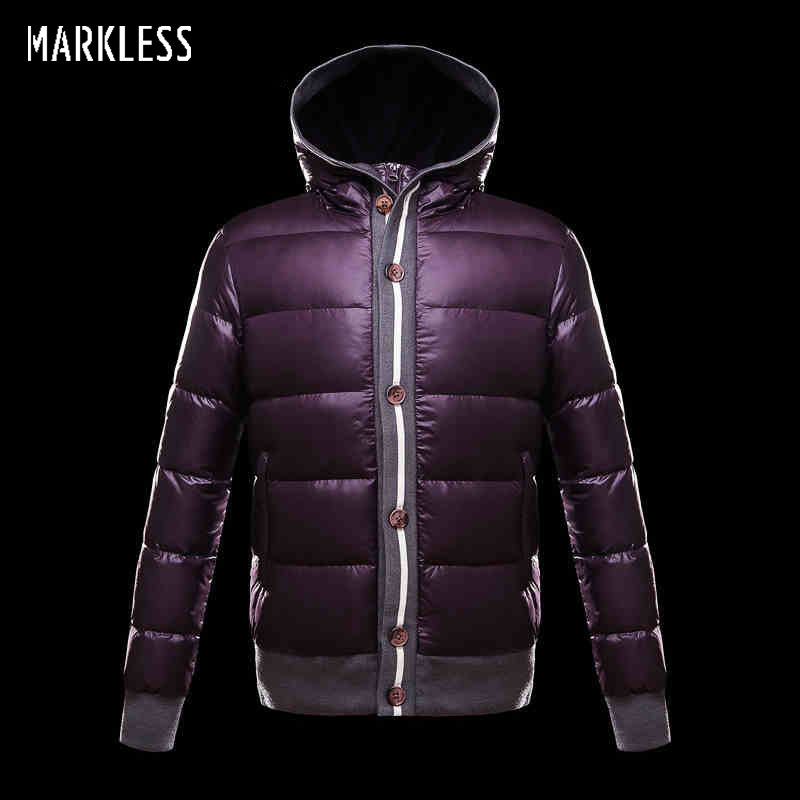 Markless 2017 New Fashion Men Thick Down Jackets Brand Clothing Mens Casual Down Coats Male Fashion Winter Outerwear