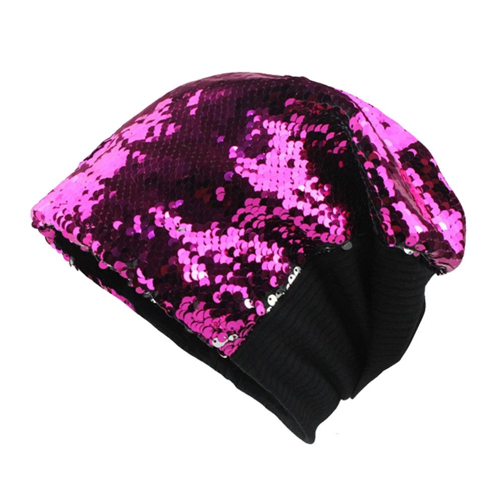 Winter Hats For Women Beanie Men Skullies Bonnets Sequined Knit Hat Fashion Warm Earmuffs Sun Hat Sunscreen Dust Cap Invierno