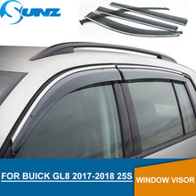 Window Visor for BUICK GL8 2017-2018 Side window deflectors rain guards 2017 2018 25S SUNZ