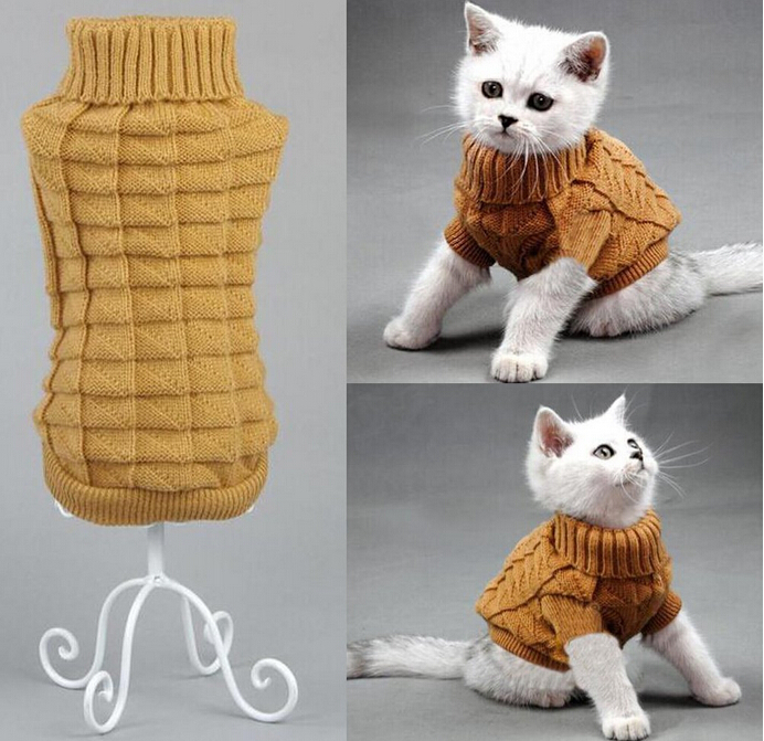 NYHET Dog Cat Sweater Sphinx Cat Coat Spagetti Varm Høst Vinter Pet - Pet produkter - Bilde 6