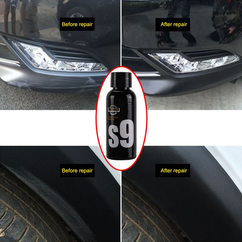 50ml Car Paint Scratch Remover Universal Black And White Car Scratch Wax Polishing Wax Abrasive