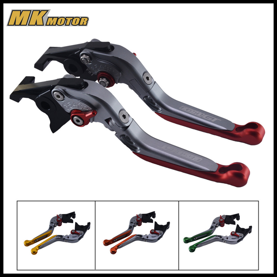 BYSPRINT With LOGO!(C650GT) Motorcycle Adjustable Folding Extending Brake Clutch Levers Moto Accessory For BMW C650GT 2012-2015 motorcycle levers clutch and brake folding lever for xl883 1200 x48 moto modification