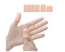 10 ชิ้น/ล็อตเจล Toe Tube Finger Protector Sleeve แยกสำหรับปกป้องผิวแตกข้าวโพด Blisters แคลลัส Care Relief