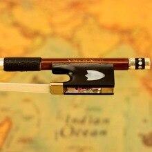 430 в 4/4 Размер Скрипка Лук пернамбуко палочка эбеновая лягушка Никель Серебро монтируется из натурального монгольского конского волоса