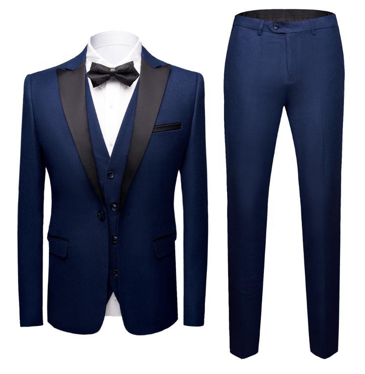 Costumes Homme MENS SUIT Business Male Suits Men's Custom Slim Fit Wedding Suit Three Pieces(Jacket+Vest+Pants)terno Masculino