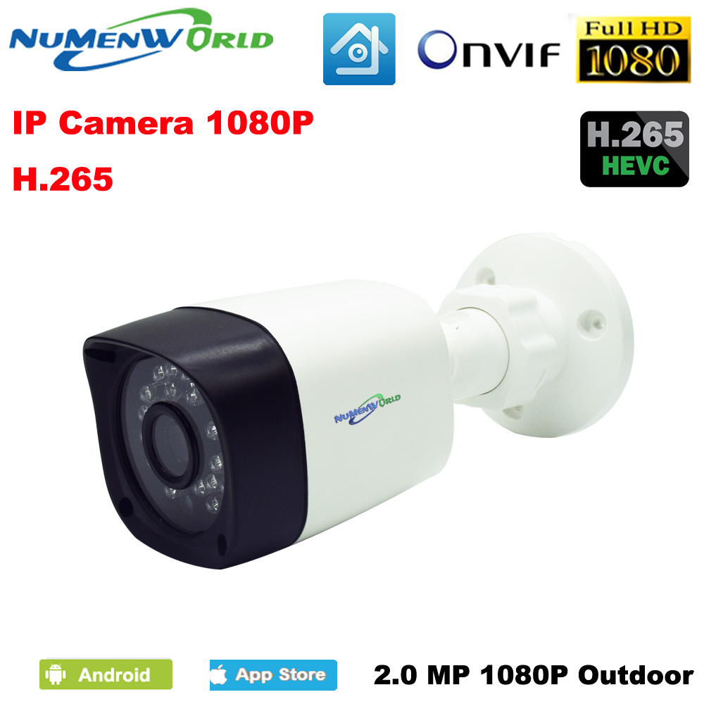H 265 H 264 HD IP camera Home security font b outdoor b font 1080P CCTV