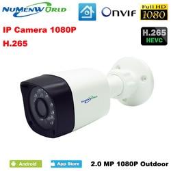 H.265/H.264 aparat ip hd bezpieczeństwo w domu na zewnątrz 1080P CCTV kamery ip wsparcie wykrywanie ruchu Smartphone Onvif wodoodporna kamera internetowa w Kamery nadzoru od Bezpieczeństwo i ochrona na