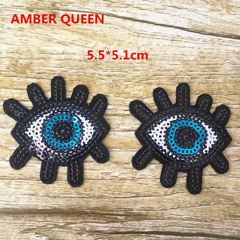 Iron-on Cartoon Eye Patch 6PCS/lot Embroidery Free shipping For Appliques Patch Looking for You DIY Accessories 16LP013