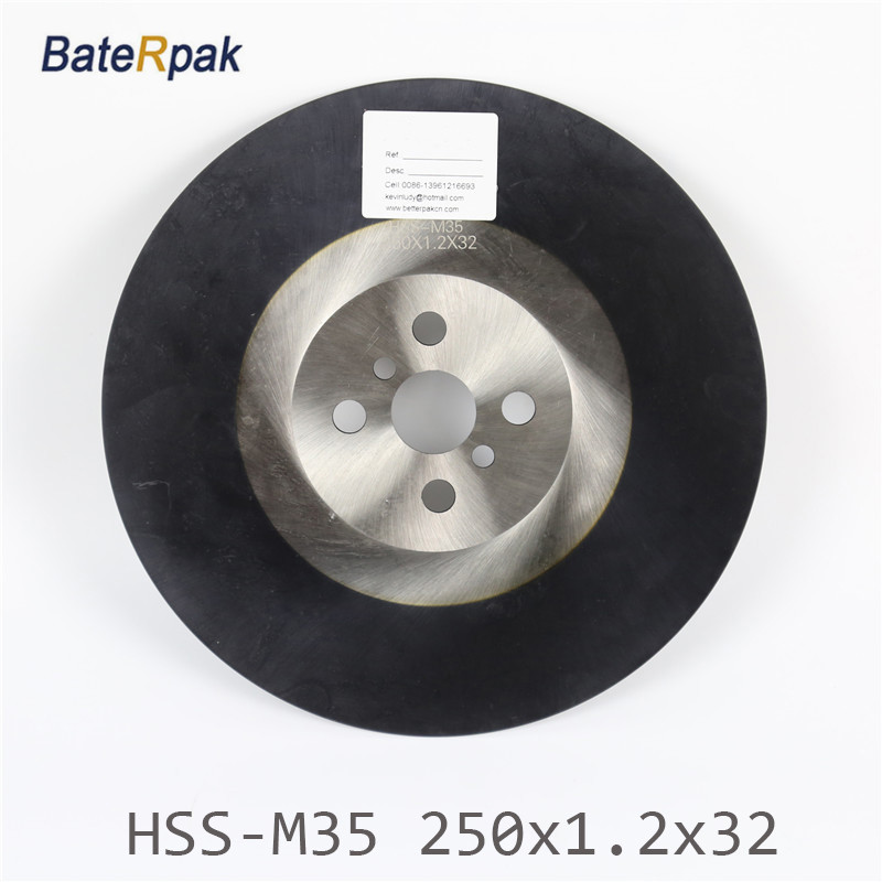 250x1.2x32mm BateRpak High quality HSS circular saw blade  Widely used in Cutting stainless steel with ALTIN coating 8 circular saw blade metal cutting 42t sold as 1 each