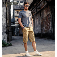 2017 Men S Shorts Fashion Summer Knee Length Male Shorts Cotton Casual Military Style New Brand