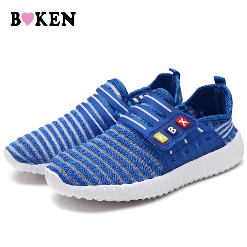 96180bbc8ed5 ᗕBoken New Kids Повседневное Кроссовки Обувь для мальчиков и модная ...