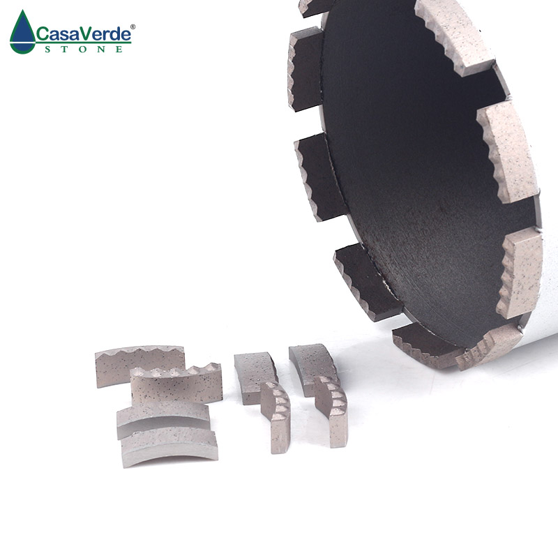 DC-DSCB01 M Type Diamond Core Drill Bit Segments 24x3.5x10mm Wet Drilling For Concrete