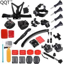 Gopro Accessories Set Helmet Harness Chest Belt Head Mount Strap Monopod Go pro Hero 4 session 3 3+ xiaomi yi SJCAM M10 SJ4000