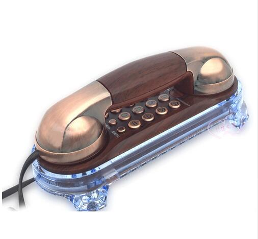 Free shipping Wall Mounted landline Telephone Corded Antique Retro Telephone For Home ...