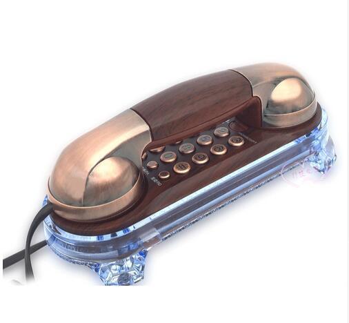 Parede frete grátis Montada telefone fixo Com Fio de Telefone Antigo Telefone Retro Para Casa