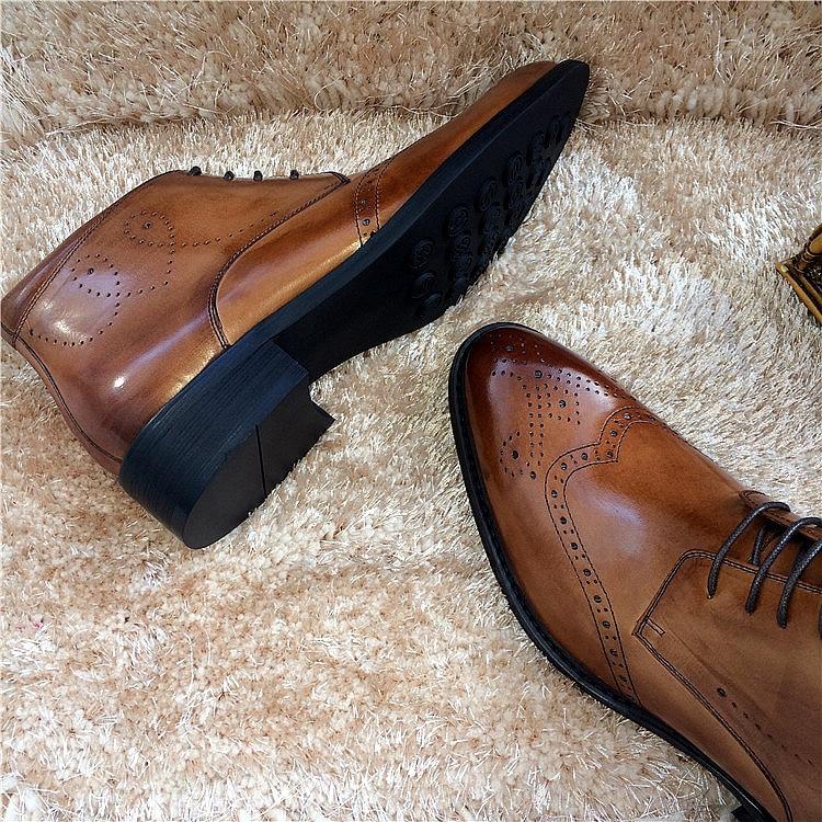 Martin Mâle Chaussons De Cheville 2018 2 Hommes Robe Bottes 3 1 Véritable Mariage Printemps En Court Chaussures Brogues Sculpté Homme Mode Automne Cuir 0wNnvm8