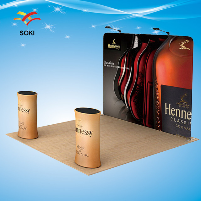 Exhibition Stand Banner : Ft exhibition booth straight exhibition display system stand