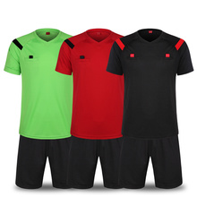 (2 pieces/lot) Soccer Referee Jerseys Football Judge Uniform Professional Football Referee Clothing Football Referee Jersey