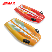 DMAR Inflatable Knight Surfboard Float Handle For Kids 112cm Giant Mattress Swimming Ring Pool Beach Summer Water Game Party Toy