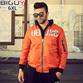Big Guy Store XL-6XL Casual Spring Autumn Jacket For Men 2016 Orange Black Outwear Male Stand Collor Mens Coats And Jackets 1312