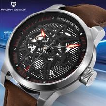 パガーニデザインのメンズファッションの高級ブランド自動機械式時計男性防水トゥールビヨンスポーツ時計レロジオ Masculino