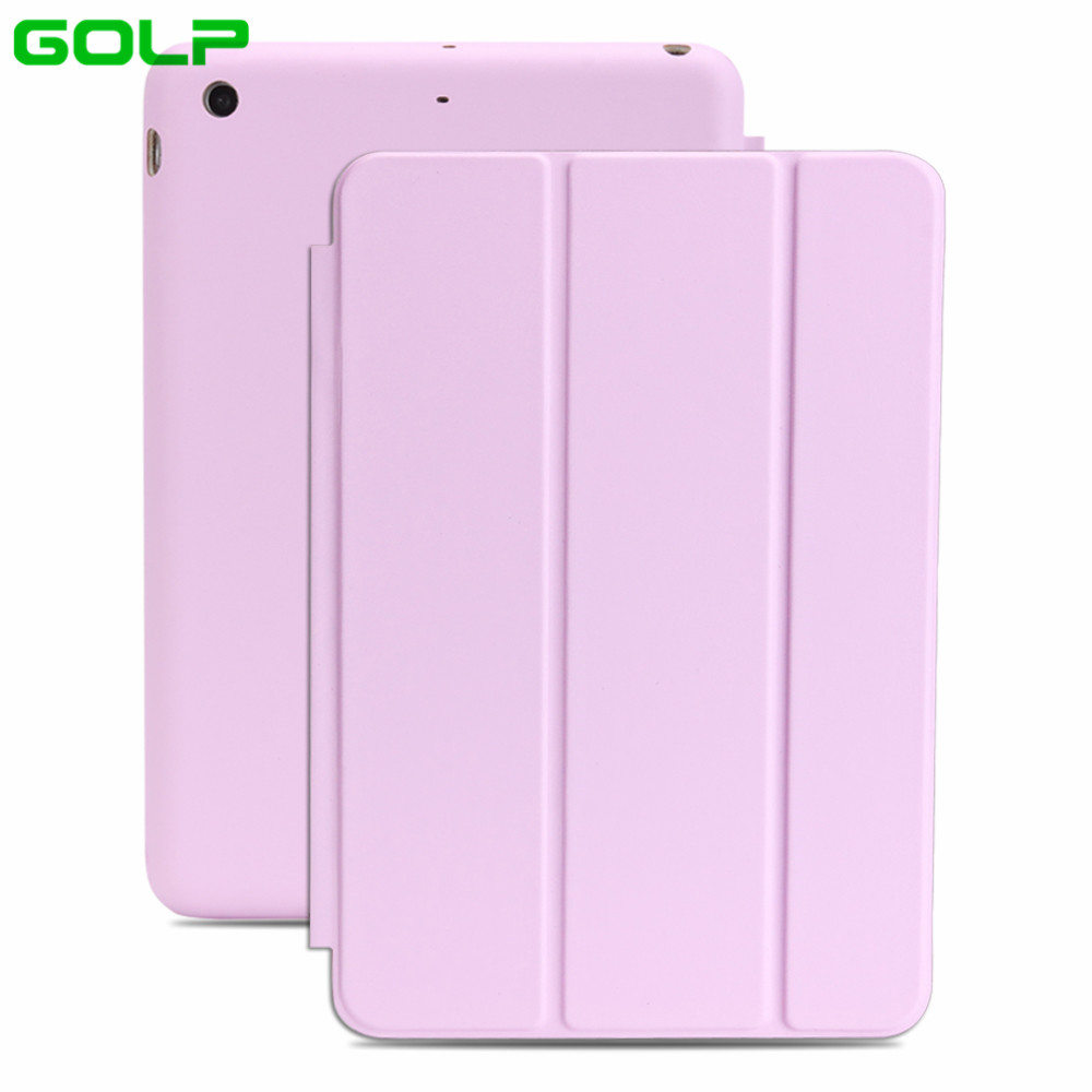 GOLP Case for iPad Mini 1 2 3 PU Leather Cover Fiber Inner Case Same As Offical Protective Shell for iPad Mini 1 2 3 Covers for ipad mini4 cover high quality soft tpu rubber back case for ipad mini 4 silicone back cover semi transparent case shell skin