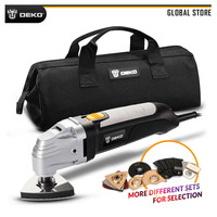 DEKO GJ177 110V/220V Electric Trimmer 300W Power Multifunction Oscillating Tool for Home DIY Renovation with Saw Accessories
