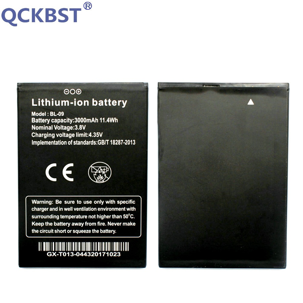 QCKBST 3000mAh <font><b>Battery</b></font> <font><b>BL</b></font>-09 BL09 <font><b>BL</b></font> 09 For THL <font><b>T9</b></font> Pro Cell Phone Lithium-ion Batterij Bateria+ Tracking Code image