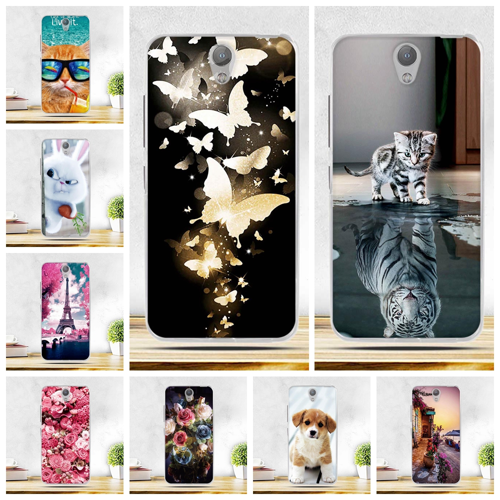 Luxury Cases For Lenovo Vibe S1 Cover vibe S1 s1 Case 3D Flower Print Soft Silicon TPU For Lenovo Vibe S1 A40 S 1 Phone Cover