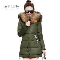 Lisa Colly Women Autumn Winter Jacket Women Cotton Short Jacket Winter Outerwear New Girls Hooded Warm