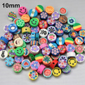 100pcs/Lot, Free Shipping Good Quality Assorted Colors 10mm Disc Fruit Slices Polymer Clay Beads