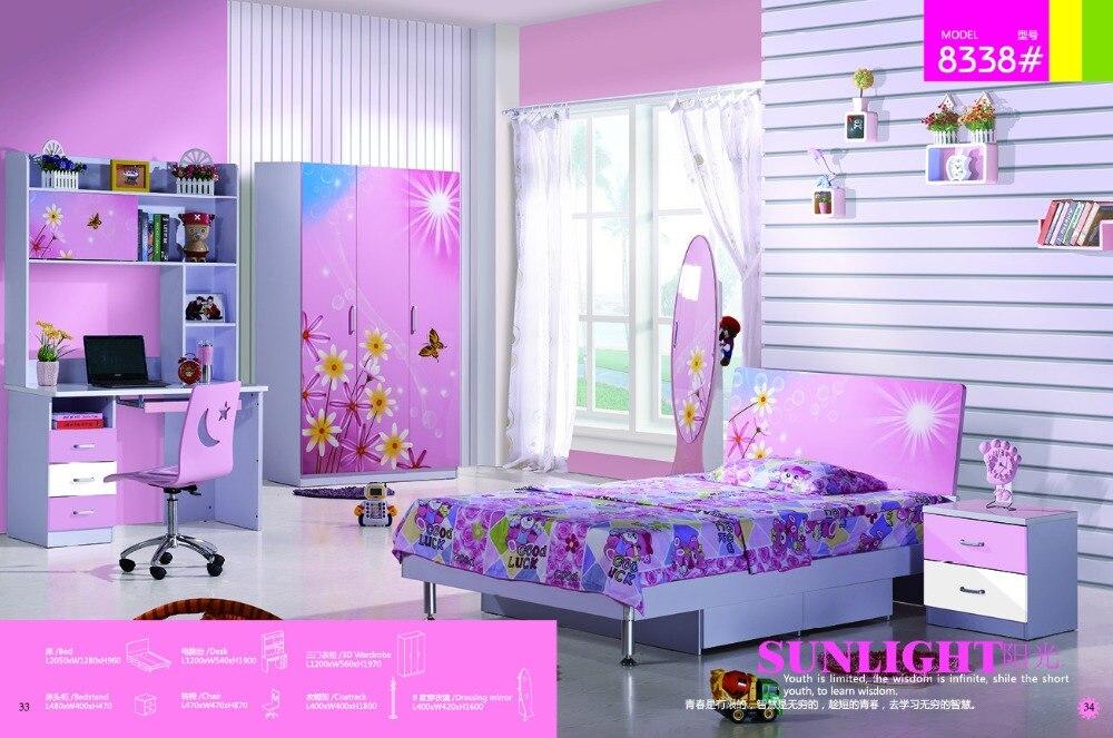 2019 Real Sale Enfant Desk Chair Kids Table Loft Bed Set Wood Kindergarten Furniture Camas Lit Enfants Childrens Bunk Beds