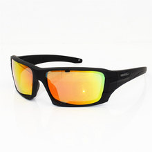 4 lens Polarized Sunglasses UV protection Military Glasses T