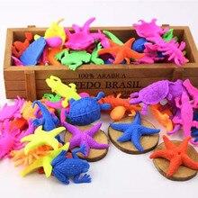 6 шт. Новинка надувные Забавные игрушки Вода растут динозавр океан животное рыба дракон для детей развивающие Дети подарок