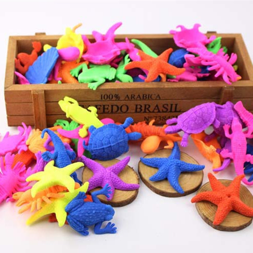 6PCS Novelty Inflate Funny Toys Water Grow Up Dinosaur Ocean Animal Fish Dragon For Child Educational Kids Gift