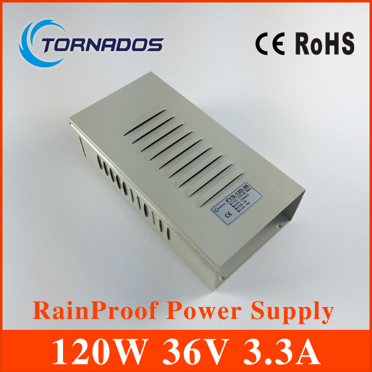 120W 36V 3.3A Rainproof outdoor Single Output Switching power supply smps AC TO DC FY-120-36 hot sale 12 volt switching power source supply rainproof 12v 15 200w fy 201 12 16 5a single output china